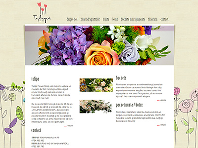 creare website florărie