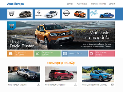 creare website prezentare autoeuropa