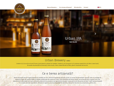 creare website producator bere artizanala